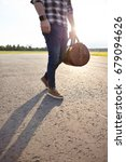 young man in blue jeans wearing ... | Shutterstock . vector #679094626