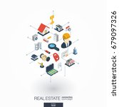 real estate integrated 3d web... | Shutterstock .eps vector #679097326