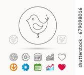 bird with beak icon. cute small ... | Shutterstock .eps vector #679098016