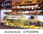 bread  cakes  buns  muffins ...   Shutterstock . vector #679100896