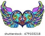 boho chic decorative beautiful... | Shutterstock .eps vector #679103218