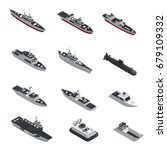 dark color military boats... | Shutterstock .eps vector #679109332
