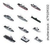 dark color military boats... | Shutterstock .eps vector #679109332