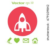 rocket icon | Shutterstock .eps vector #679109842