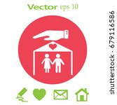 flat icon family. the husband... | Shutterstock .eps vector #679116586