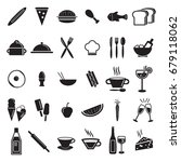 kitchen food vector icon set | Shutterstock .eps vector #679118062