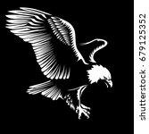 eagle emblem isolated on white...   Shutterstock .eps vector #679125352