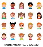 set of avatars of different... | Shutterstock .eps vector #679127332