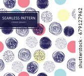 vector seamless pattern with... | Shutterstock .eps vector #679127962