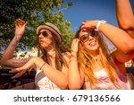 group of happy sexy girls... | Shutterstock . vector #679136566