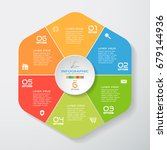 vector infographic hexagonal... | Shutterstock .eps vector #679144936