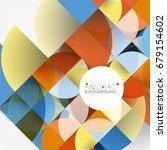 cut paper circles  mosaic mix... | Shutterstock .eps vector #679154602