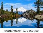 mount shasta and heart lake | Shutterstock . vector #679159252