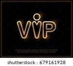 vip luxury logo  design for... | Shutterstock .eps vector #679161928