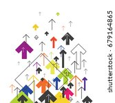 arrows up. colorful arrows on... | Shutterstock .eps vector #679164865