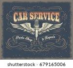 vector vintage illustration ... | Shutterstock .eps vector #679165006