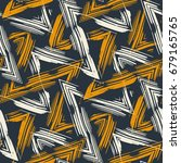 abstract bold zigzag brush... | Shutterstock .eps vector #679165765