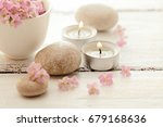 spa still life. aromatherapy... | Shutterstock . vector #679168636
