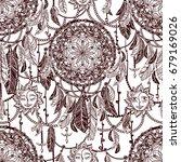 hand drawn native american... | Shutterstock .eps vector #679169026