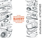 bakery illustration. vintage... | Shutterstock .eps vector #679169485