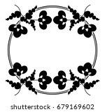 black and white silhouette... | Shutterstock .eps vector #679169602