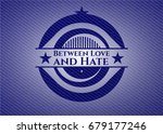 between love and hate with... | Shutterstock .eps vector #679177246