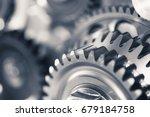 engine gear wheels  industrial... | Shutterstock . vector #679184758