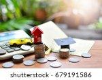money saving for basic needs... | Shutterstock . vector #679191586