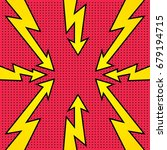 rays and arrows. comic book... | Shutterstock .eps vector #679194715