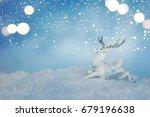 reindeer toy. christmas... | Shutterstock . vector #679196638