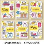 business vector brochure cards... | Shutterstock .eps vector #679203046