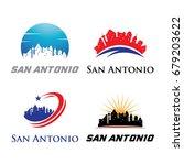 san antonio logo   city skyline ...   Shutterstock .eps vector #679203622