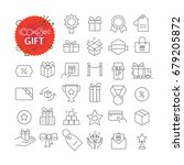 simple icons collection. web... | Shutterstock .eps vector #679205872