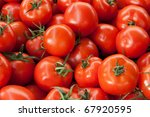 red ripe tomatoes background... | Shutterstock . vector #67920595