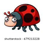 sad ladybug on white background ...   Shutterstock .eps vector #679213228