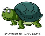 turtle with sad face... | Shutterstock .eps vector #679213246