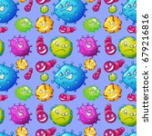 seamless background with germs... | Shutterstock .eps vector #679216816
