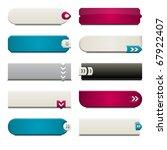ten call to action buttons ... | Shutterstock .eps vector #67922407