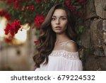 closeup beauty portrait of... | Shutterstock . vector #679224532