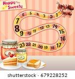 food board game for kids | Shutterstock .eps vector #679228252