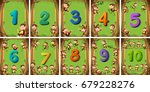 number one to ten on different... | Shutterstock .eps vector #679228276