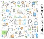 modern line web concept for... | Shutterstock . vector #679235056