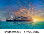 container ship  ship in the sea ... | Shutterstock . vector #679236082