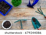 working in garden. gardening... | Shutterstock . vector #679244086