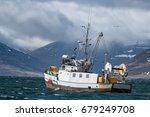 commercial fishing vessel...   Shutterstock . vector #679249708