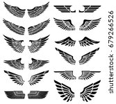 set of the wings isolated on... | Shutterstock .eps vector #679266526