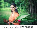 beautiful balinese women in... | Shutterstock . vector #679270252