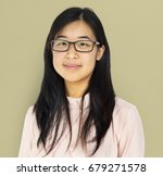 young adult asian girl smiling... | Shutterstock . vector #679271578