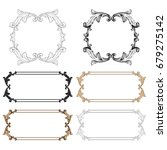 baroque vector set of vintage... | Shutterstock .eps vector #679275142