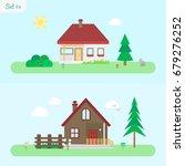 family home   icon set 4....   Shutterstock .eps vector #679276252